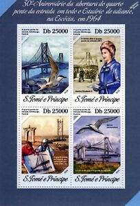 1964 Firth Of Forth Road Bridge (edinburgh Scotland) Stamp Sheet #1 (2014)-afficher Le Titre D'origine Nourrir Les Reins Soulager Le Rhumatisme