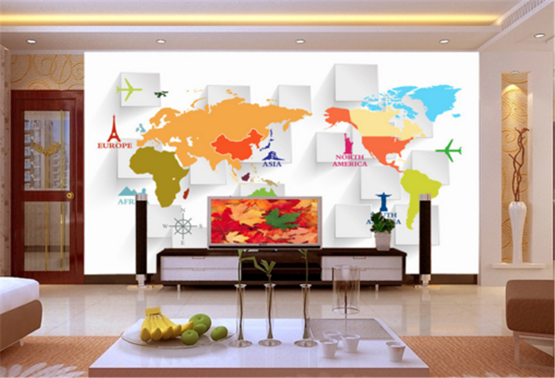 3D Weltkarte Raum 893 Tapete Tapeten Mauer Foto Familie Tapete Wandgemälde DE