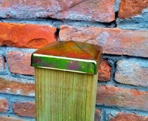Terminal para poste de madera tapa tapon cuadrado galvanizado para cercas