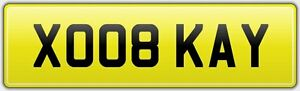 KISS-PERSONALISED-RARE-VEHICLE-CAR-REG-NUMBER-PLATE-ALL-DVLA-FEES-PAID-XO08-KAY