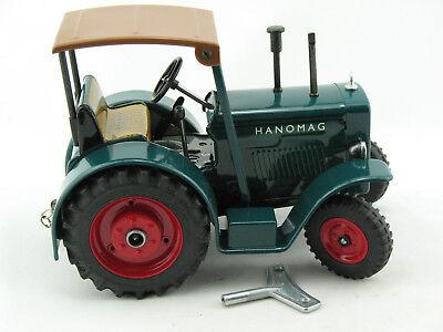 STEIFF HANOMAG TRAKTOR mit Anhänger viel Zubehör, Spielzeug