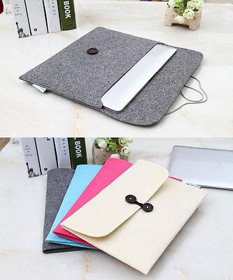 "11""13""15"" Envelope Laptop Sleeve Case Bag Woolen Felt For Apple Macbook Pro Air"