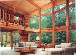 Lindal Cedar Homes Postcard 6 X 8 Interior View Of Beautiful Home