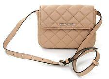 Michael Kors Sloan Flap Small Leather Crossbody Handbag Bisque / Beige RRP £130