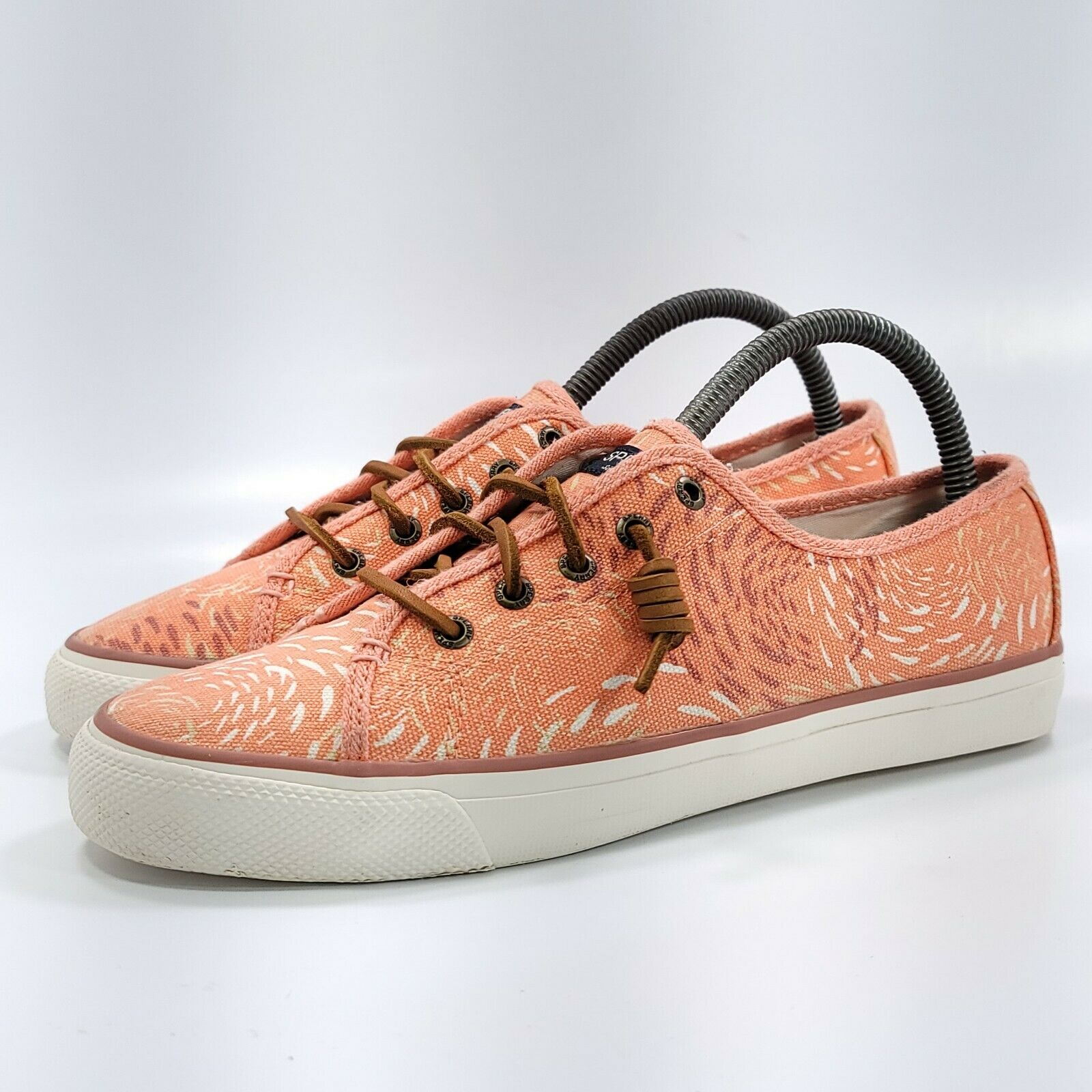 Sperry Top Sider Seacoast Casal Shoe Womens Size 8.5 STS95424 Pink White