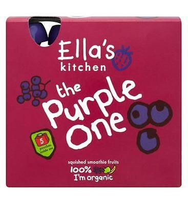 Feeding Baby Dedicated Ellas Küche Die Lila Einem Smoothie Früchte Zerquetscht 5 X 90g