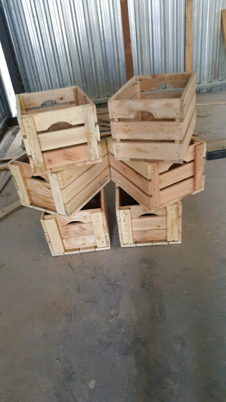 Antique styled crates and trays