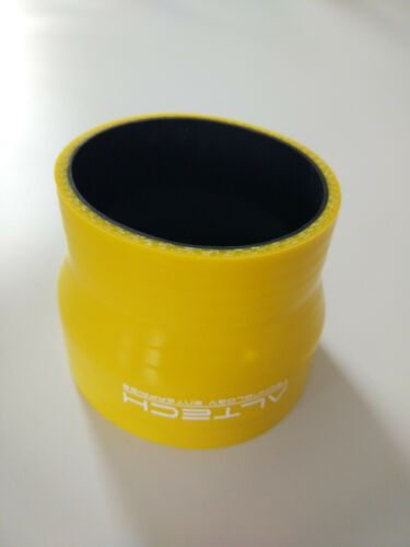 Yellow 3-ply 2.5/'/'-3/'/' 64mm-76mm Straight Silicone Reducer Turbo Hose Coupler