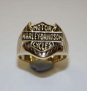 Mens bronze harley davidson biker rings sz 6 20 ebay for Harley davidson jewelry ebay