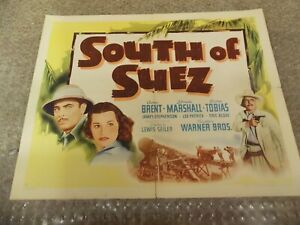 SOUTH-OF-SUEZ-1940-GEORGE-BRENT-ORIGINAL-1-2-SHEET-POSTER-22-034-BY28-034