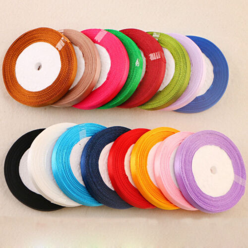 10mm 22 Meters Silk Satin Ribbon Wedding Decoration Party Event Ribbons Gift