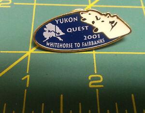 2001-Yukon-Quest-lapel-Pin-Dog-Sled-Race-Whitehorse-yukon-to-Fairbanks-Alaska