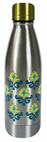Boston Warehouse Stainless Steel 17-Ounce Cantini Canteen Bottle, Vacuum Insu...