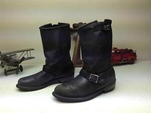 Détails sur Vintage CAROLINA noir en cuir Made in USA Ingénieur Bottes de moto 9 9.5 M afficher le titre d'origine