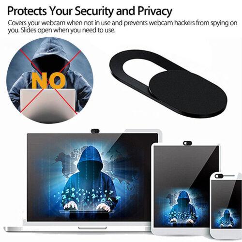 3PCS Webcam Cover Web Camera Privacy Blocker Computer Phone Ultra-Thin Black #