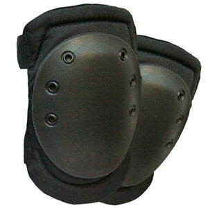 Tactical-Military-Army-Airsoft-Paintball-Protective-Hard-Cap-Knee-Pads-Black