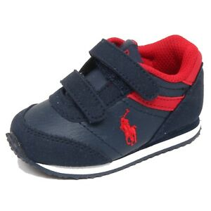 newest 4e020 5873b Details about F8006 sneaker bimbo boy baby POLO RALPH LAUREN blue/red  scarpe shoe