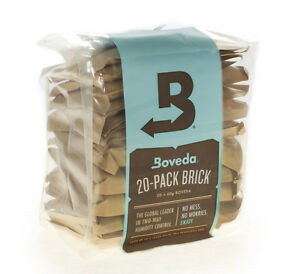 Boveda 75% 2-Way Humidity Control, Large 20-Pack Bulk Brick