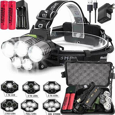 350000LM T6 LED Rechargeable Headlamp Headlight Head Torch Flashlight Work Light
