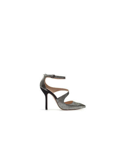 ZARA BNWT SILVER COMBINED COURT COURT COURT SHOES SIZE UK7 US9 EU40 Ref. 3173 201 202 28537d