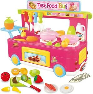 Image Is Loading Play Kitchen Set Kids 40 Piece Pretend Toy