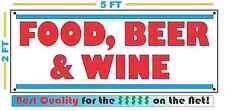 FOOD BEER WINE Banner Sign Vintage Retro Look Best Price! Grocery Gas Station