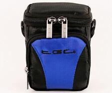 TGC Blue & Black Case for Compact Minox Cameras + Belt Loop + Foam Padding