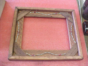 BS6-Custom-made-wood-wooden-picture-frame-barbwire-western-accent-9-034-x-7-034