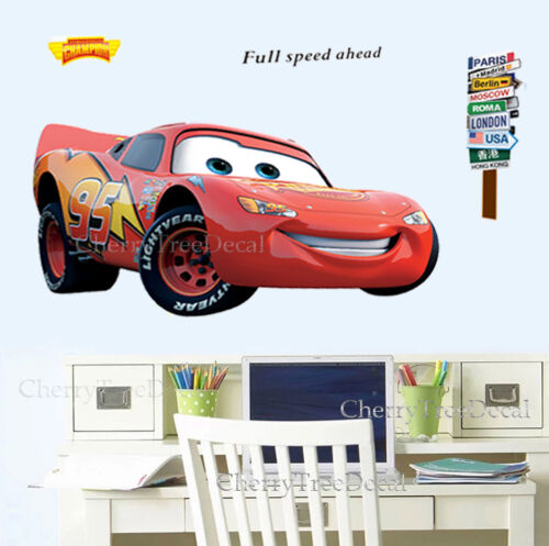Wall Decals Stickers Extra Large Disney Cars Lightning Mcqueen Wall Stickers Kids Boys Bedroom Decal Home Furniture Diy Zu Studentlounge De