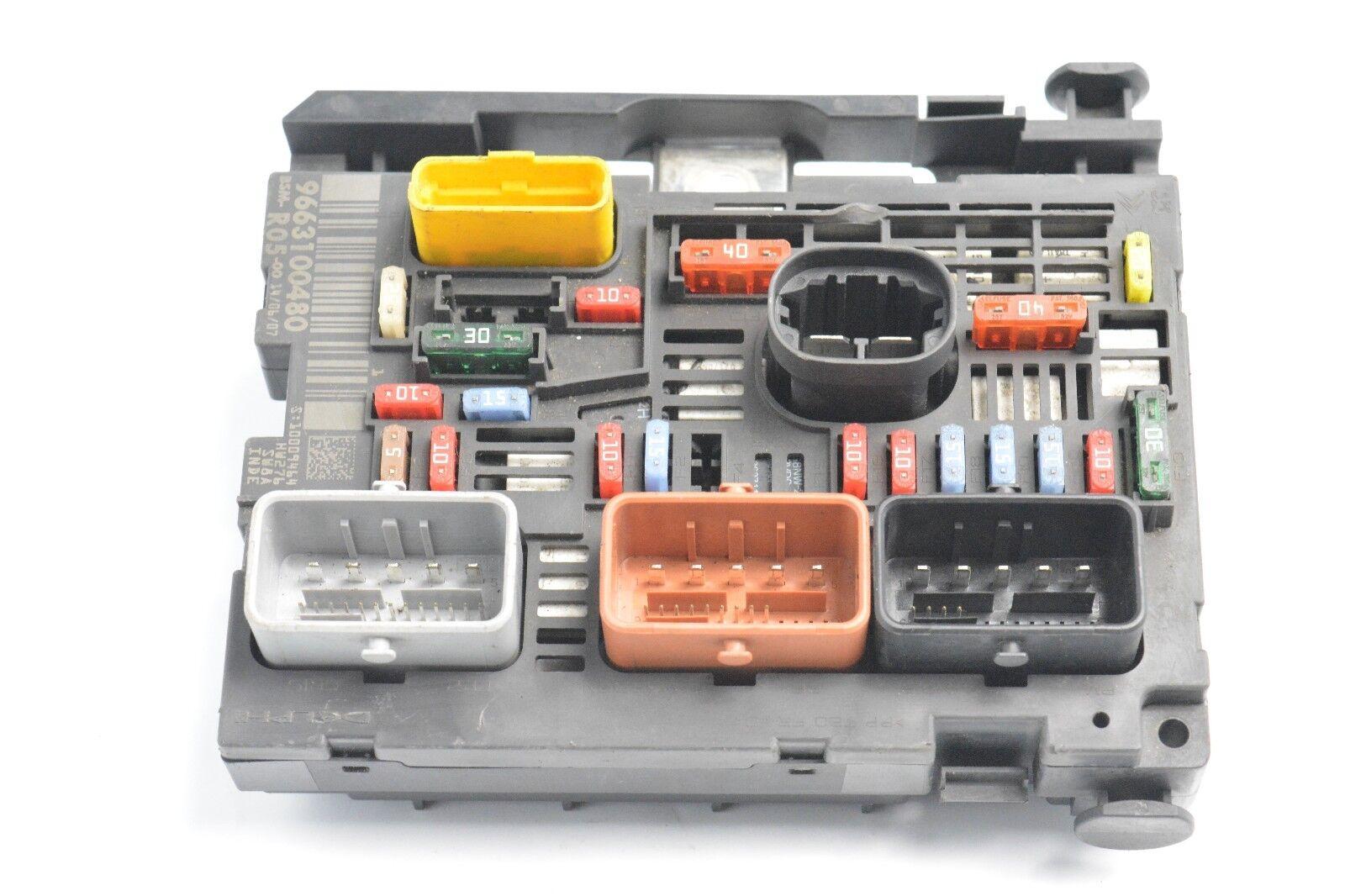 Peugeot 308 I 07 11 Control Unit Ecu Module Bsm R05 9663100480 75tkm Fuse Box Cover Norton Secured Powered By Verisign