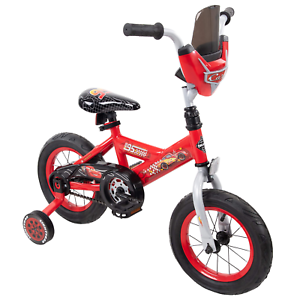 12 Cars Lightning Mcqueen Boys Bike Red Bicycle With Training Wheels Gift Ebay