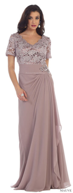 DESIGNER SHORT SLEEVE EVENING GOWN SPECIAL OCCASION BANQUET DRESS & PLUS  SIZE