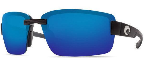 25ebf8de59f Costa Del Mar Galveston GV 11 OBMP Black Frame 580p Blue Mirror Sunglasses  for sale online