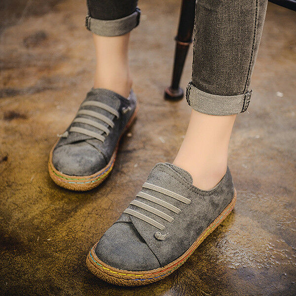 836d5b9a1f9 Fashion Women Suede Slip On Soft Loafers Lazy Flat Casual Outdoor Sport  Shoes