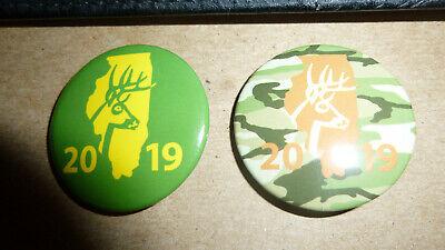 2019 Illinois Deer Harvest Pins Bow /& Shotgun