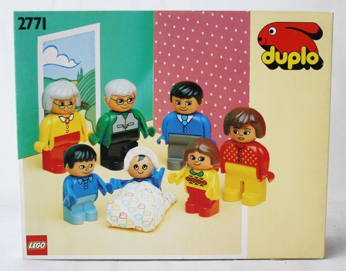 VERY RARE 1991 VINTAGE LEGO DUPLO 2771 FAMILY SET nuovo MISB SEALED