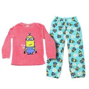 a10f8be97 La imagen se está cargando Minions-nina-Pijamas-De-Forro-polar -infantil-Conjunto-