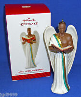 Hallmark Ornament Angel Of Enlightenment 2014 Male Angel African American