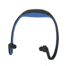 MP3 Wireless Headset WMA Window Media Audio Player TF/ Micro SD Color-Blue,