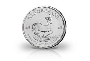 Krügerrand 2 oz Silber 2020 Südafrika PP