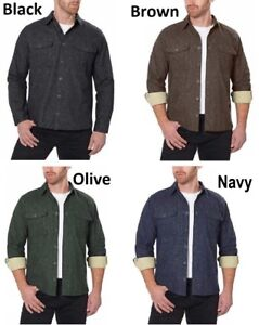 Freedom-Foundry-Men-s-Chamois-Heathered-Flannel-Warm-Shirt-Various-Colors-Sizes