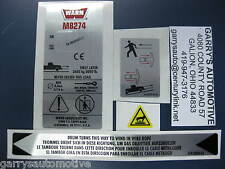 WARN 38307 Winch Replacement Decal Label Kit Set Sticker M8274-50