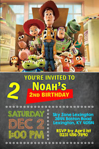 Details About Toy Story Invitations