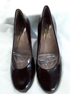 Aerosoles-Heelrest-womens-size-6-5-M-brown-patent-leather-pumps-2-1-4-heel-NWOT