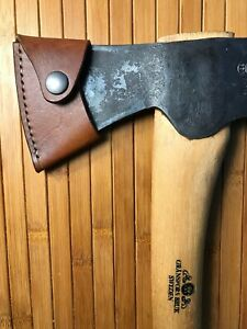 Handmade-Leather-Axe-Mask-Sheath-Fits-Gransfors-Bruk-Small-Forest-Axe