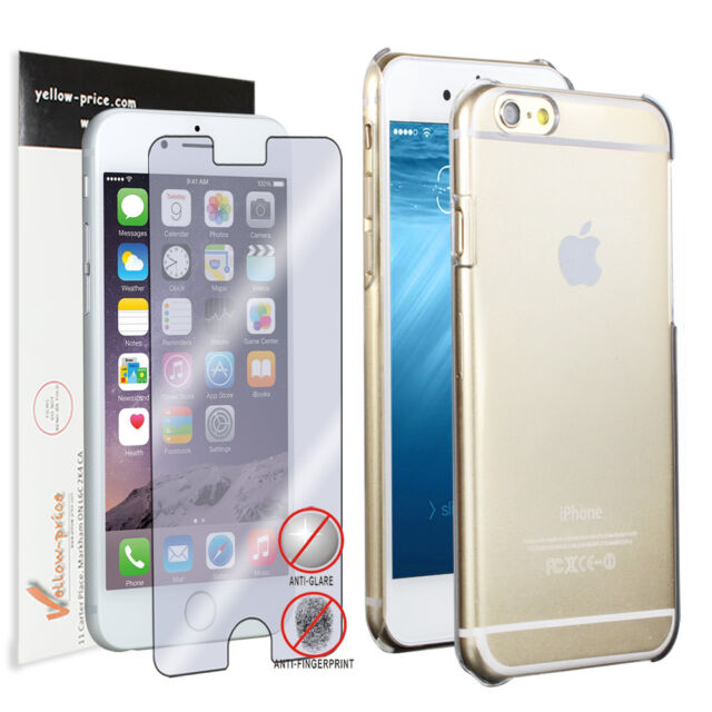 "iPhone 6 (4.7"") Air Skin 0.2mm Hard Crystal Transparent Case Cover Slim + Film"