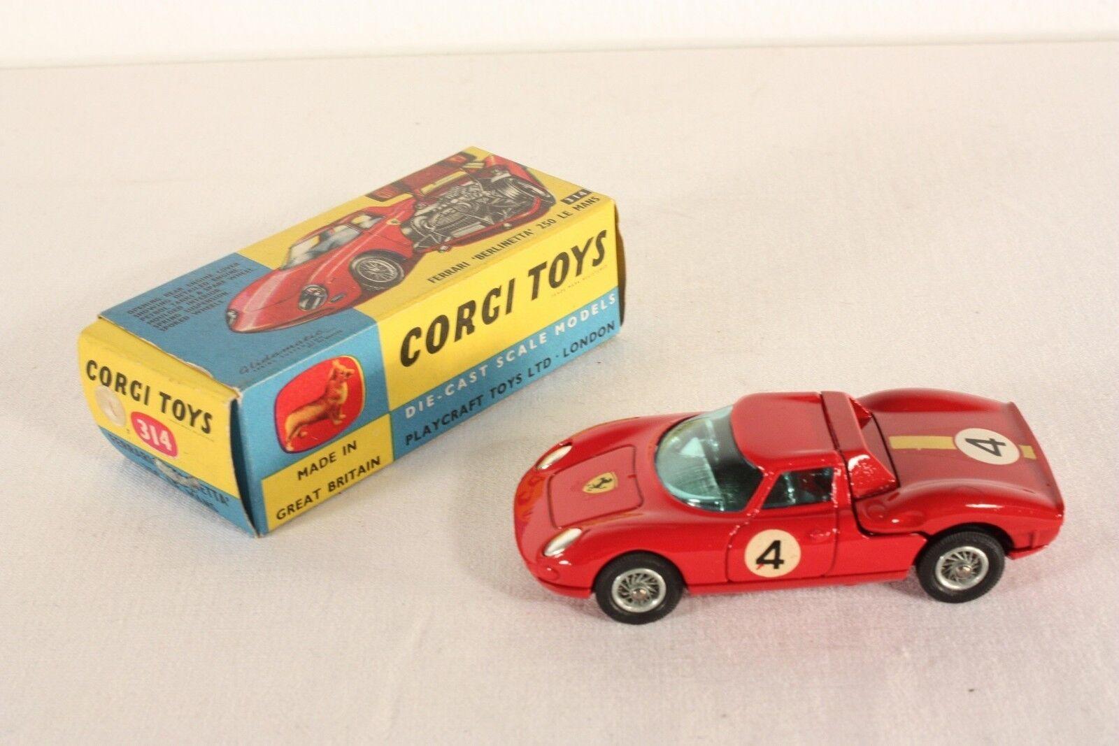 Corgi Toys 314, Ferrari Berlinetta 250 Le Mans, Mint in Box      ab620