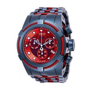 Invicta-Marvel-Spiderman-Blue-Red-Band-Red-Blue-Dial-Quartz-Men-039-s-Watch-26012