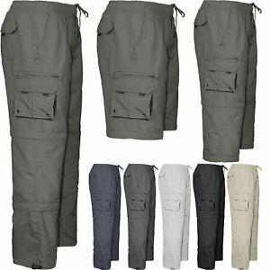 3b679936786d Image is loading New-Mens-Elasticated-Summer-Trousers-Cargo-Combat-Work-