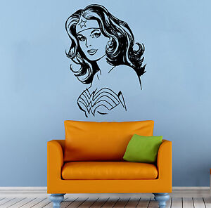 Comics Girl Superhero Wall Decal Wonder Woman Vinyl Sticker Atr - Girl superhero wall decals